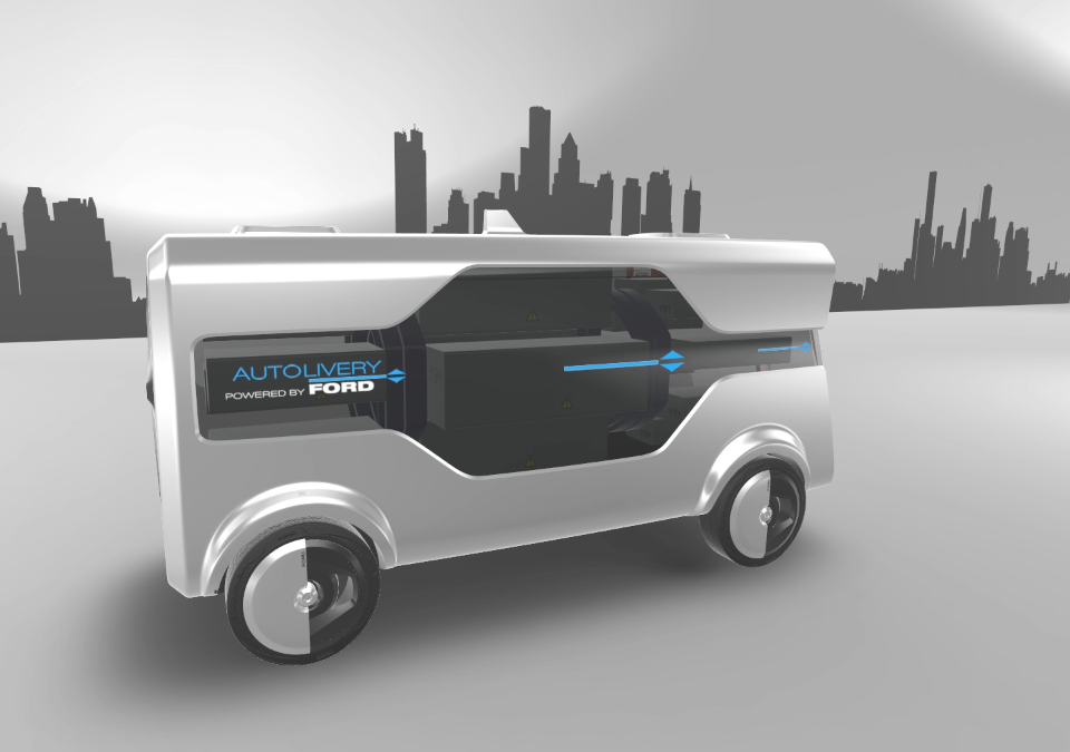 """Ford's """"Autolivery? brings autonomous drones and self-driving cars together"""