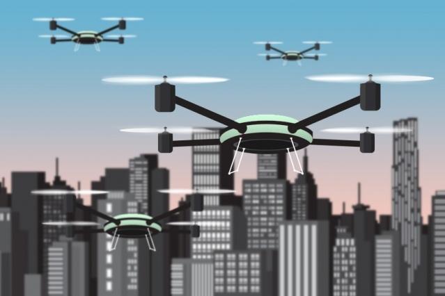 Algorithm controls team of drones
