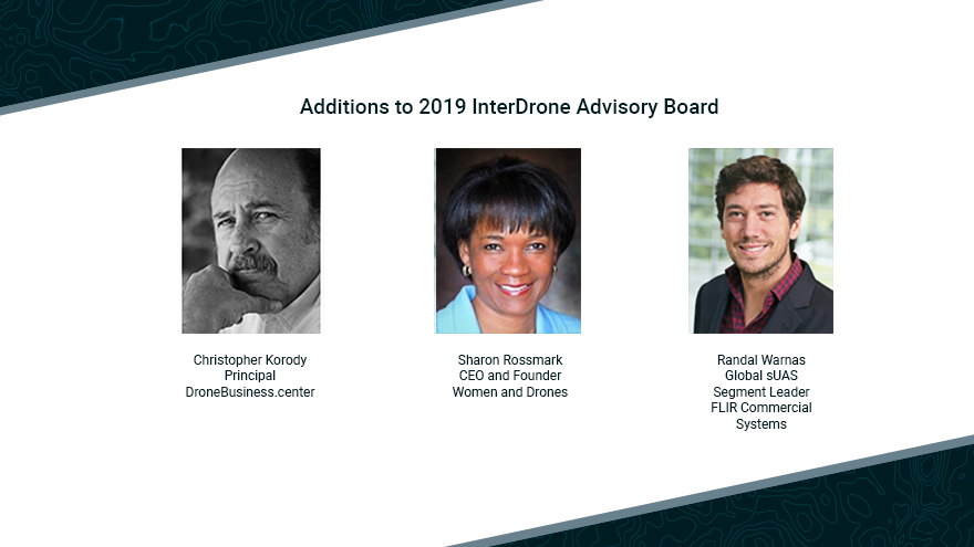InterDrone Welcomes Three New Members to Its Advisory Board