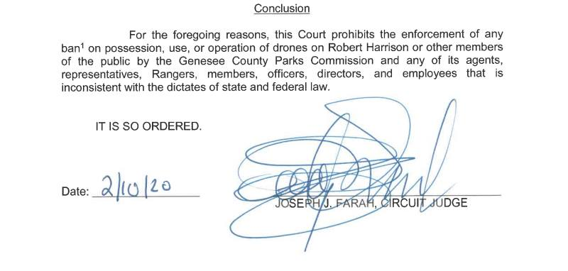 Judge rules in favor of drones taking flight in Michigan public parks