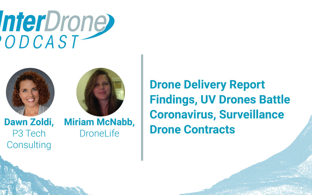 Episode 42: Drone Delivery Report Findings, UV Drones Battle Coronavirus, & Surveillance Contracts