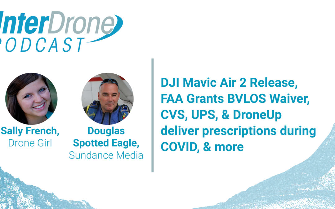 Episode 36: DJI Mavic Air 2 Release, FAA Grants BVLOS Waiver and CVS, UPS, DroneUp Deliver | InterDrone Podcast
