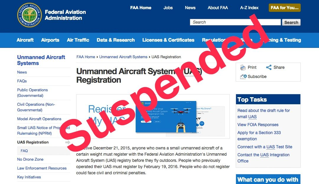 Why The FAA is Temporarily Suspending Drone Registrations