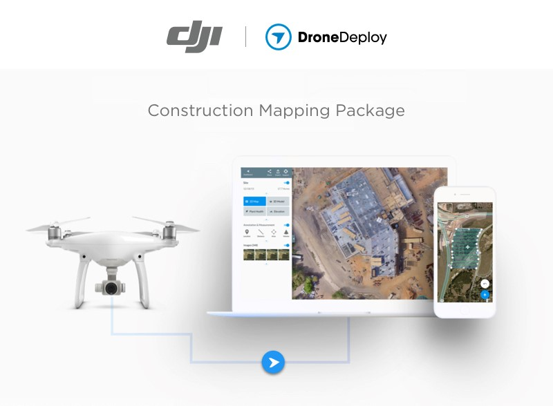 DroneDeploy Partners with DJI to Bring Complete Drone Mapping Solution to Construction
